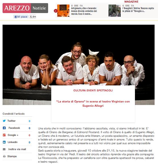 Apertura Stagione Teatrale Arezzo Notizie